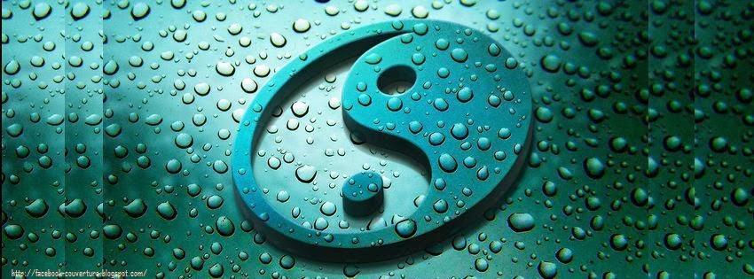 Magnifique image de couverture facebook yin yang