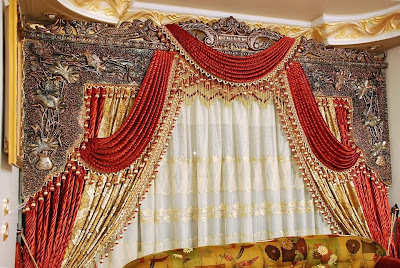 Shining curtain interior designs for living room