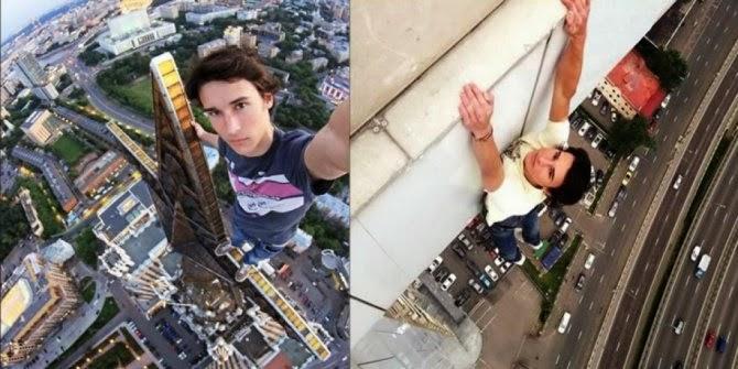 selfie dari ketinggian super edan