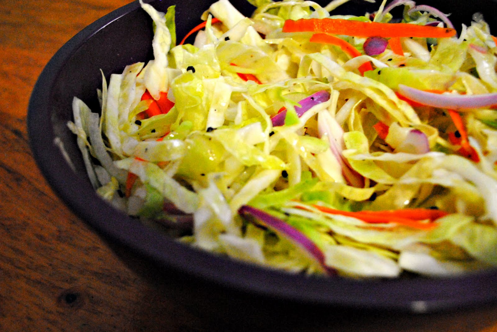 In the Kitchen with Little Buddy: Tangy Asian-Style Slaw