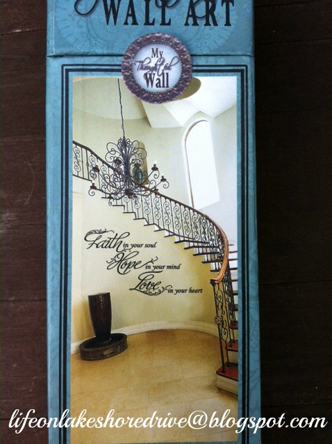 "alt=""vinyl wall decor art on stairs"""