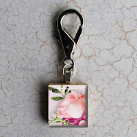 Digital photo template for scrabble tile keychain