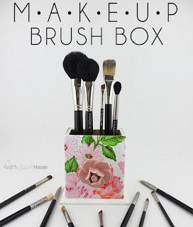 DIY Makeup Brush Box by Smart School House #diy #makeup
