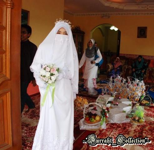 Jubah, hijab, veil & half niqab (furdah) di tempah set ~