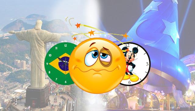 Fuso horário em Orlando - Diferença pro Brasil