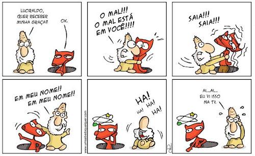 Tirinhas da Luna #29: 'O Mal está em você!' | Ordem da Fênix Brasileira