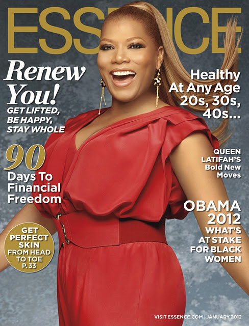 Queen Latifah ESSENCE Jan 2012 Queen Latifah Essence Magazine Cover