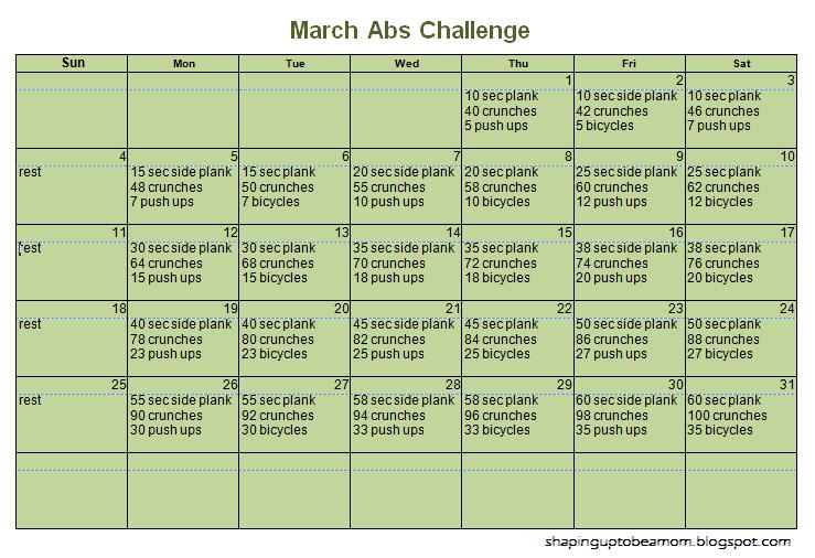 Abs Calendar on Pinterest