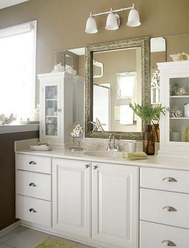 designer bathroom mirrors serve great additions to brighten bathroom