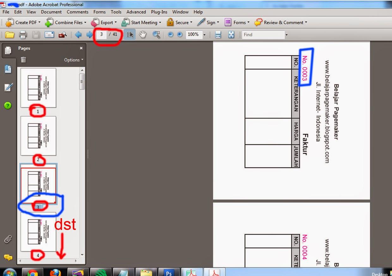 Belajar Pagemaker: Cara Membuat Nomerator di Pagemaker