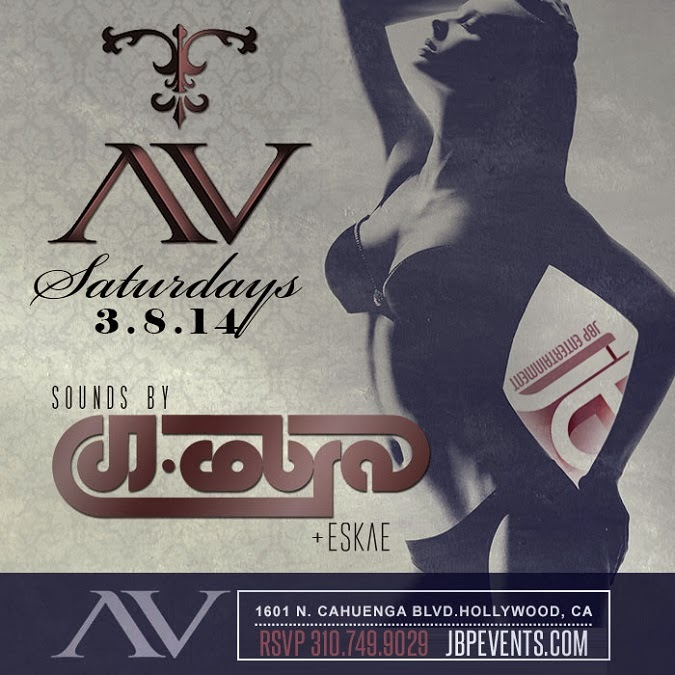 """DJ Cobra at AVnightclub Hollywood Saturdays flyer 675x675"""