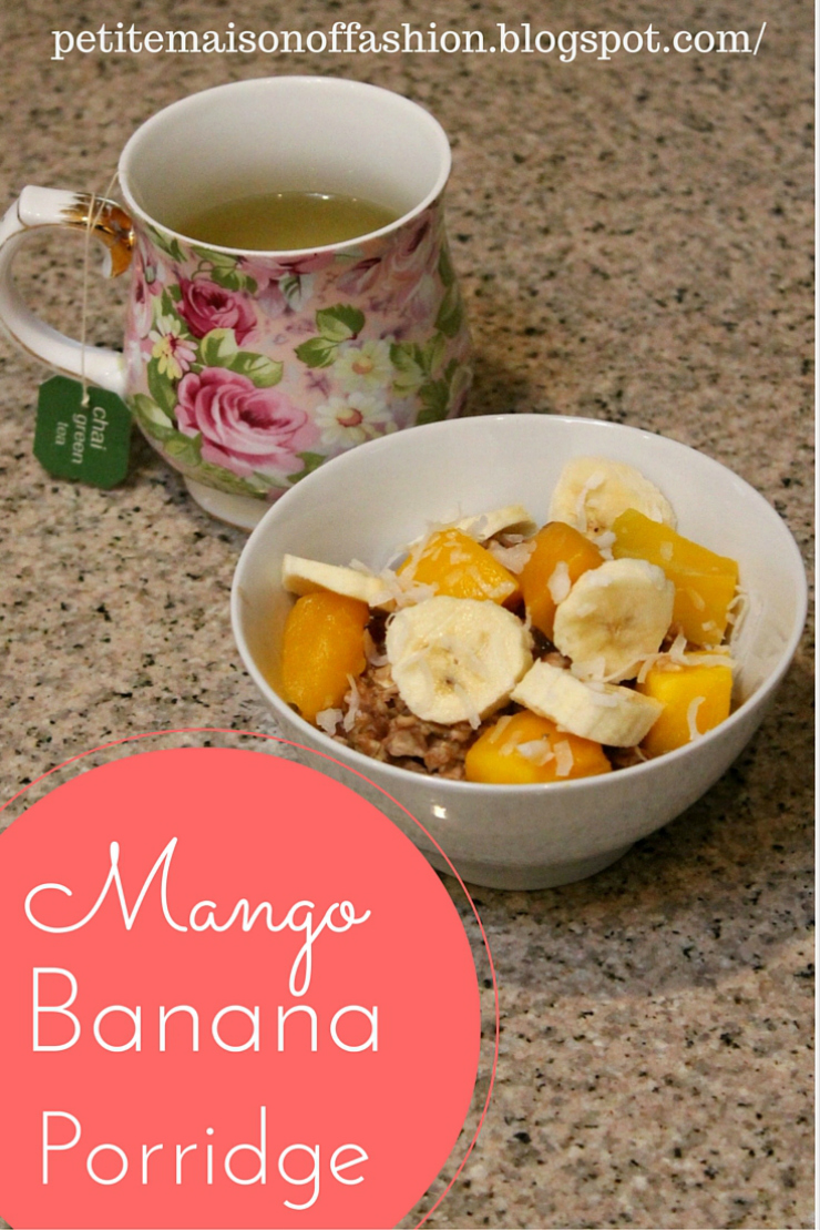 Vegan Chocolate, Banana & Mango Porridge