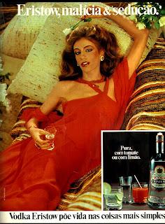 propaganda vodka Eristow - 1977.  os anos 70; propaganda na década de 70; Brazil in the 70s, história anos 70; Oswaldo Hernandez;