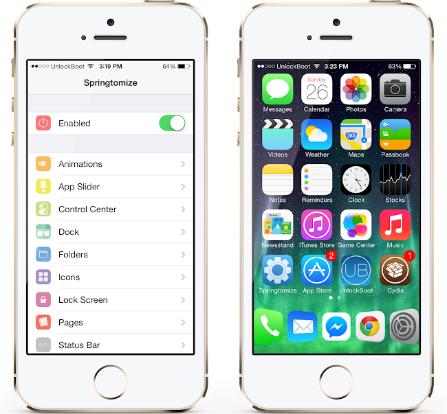 Springtomize IOS 7 Download