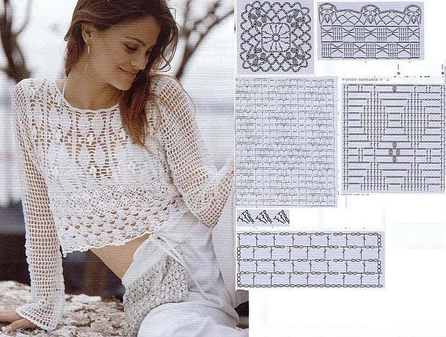 Blusas tejidas a mano japonesas - Imagui