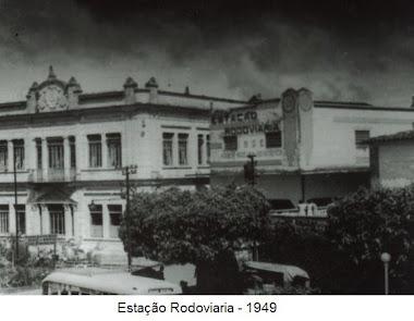 ESTAÇAO RODOVIARIA EM 1949 E CLUBE BARBACENENSE