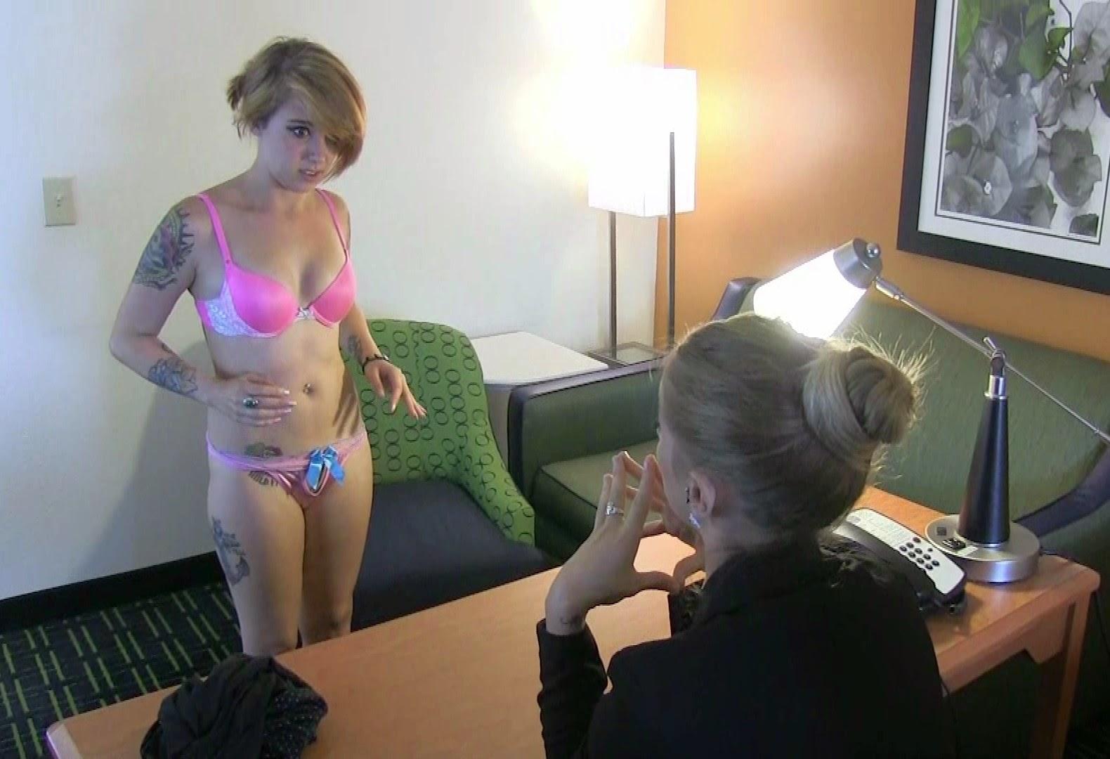 naked girl at job interview