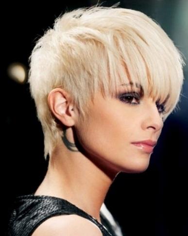 Glam Short Hair Style 2014