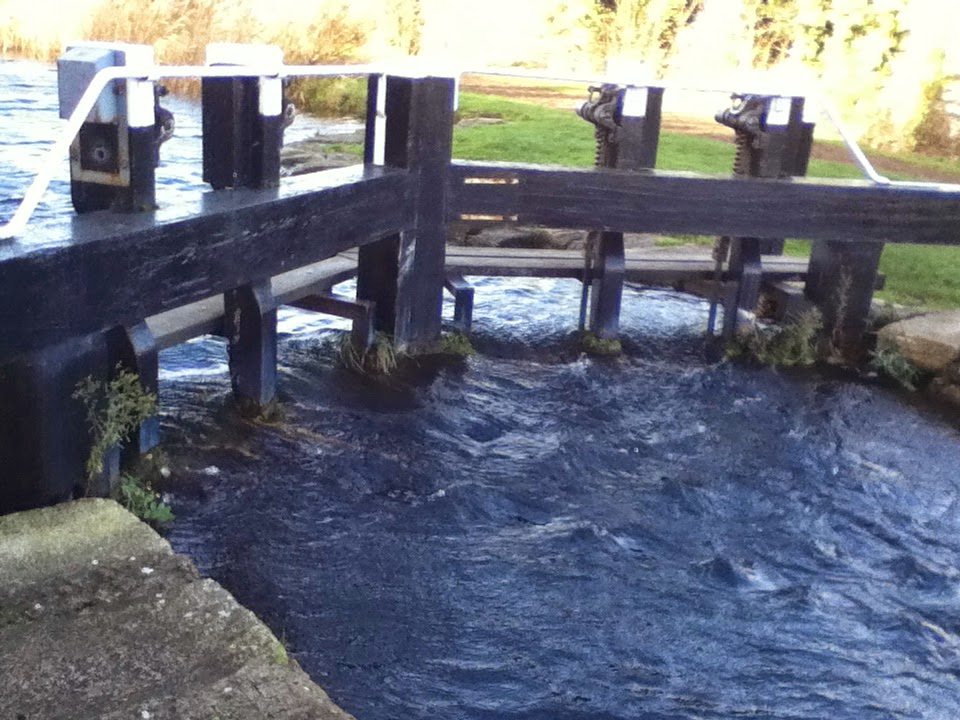 Water Flowing over a Lock