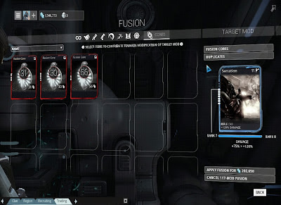 Warframe - Fusing With Fusion Cores