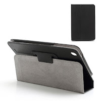 Leather Case Cover for Lenovo IdeaTab A3000 7 inch - Black