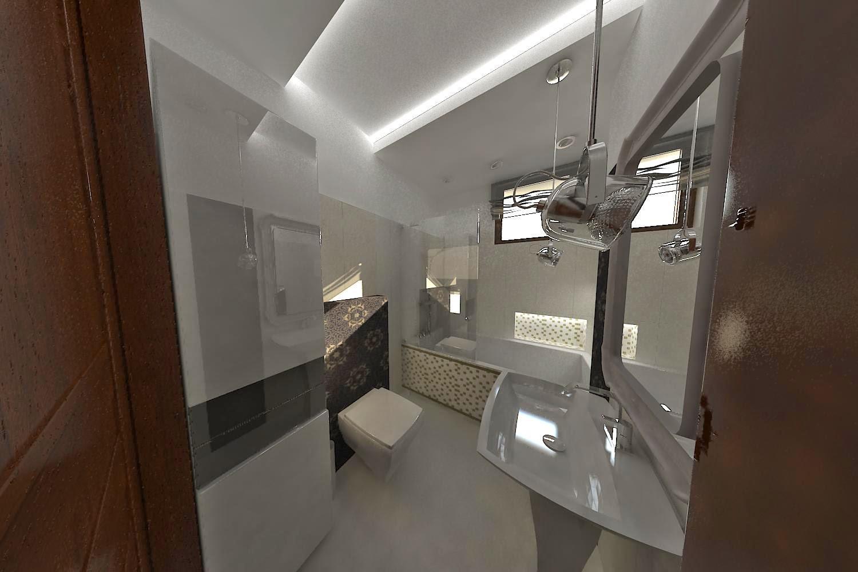 Pegaz Design Justyna łuczak Mała łazienka Z Wanną I
