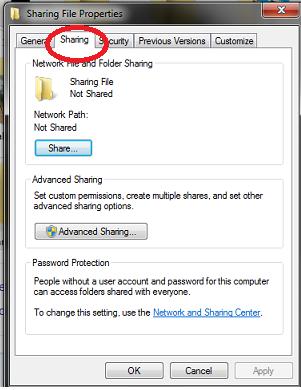 Sharing File Antar Komputer