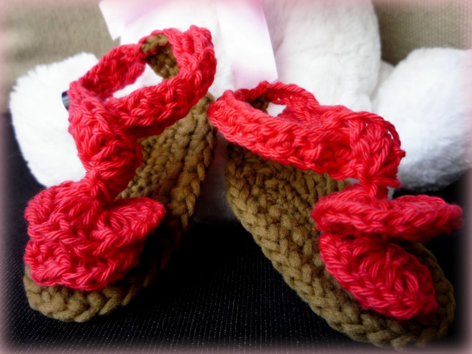 Excelente Los Patrones De Crochet Libre Para Las Sandalias Del Bebé ...