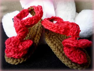 Sandalias para bebés a crochet - Ahuyama Crochet