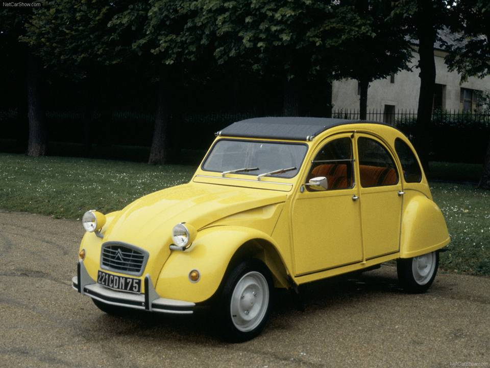 citroen 2cv classic iconic french car with small boxer. Black Bedroom Furniture Sets. Home Design Ideas