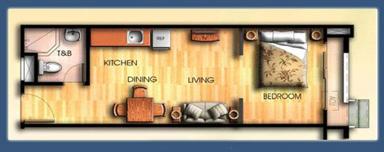 Capri Oasis Pasig 1 Bedroom Unit, Condominium for sale in Pasig, Filinvest