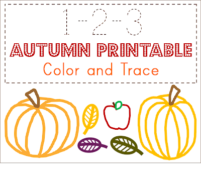 counting tracing coloring toddler preschool homeschool curriculum activity pumpkin fall leaves apple