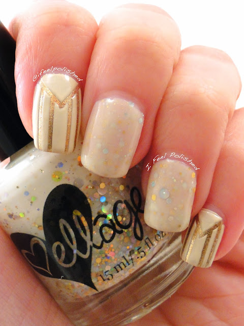 Gold and Ivory Nail Art