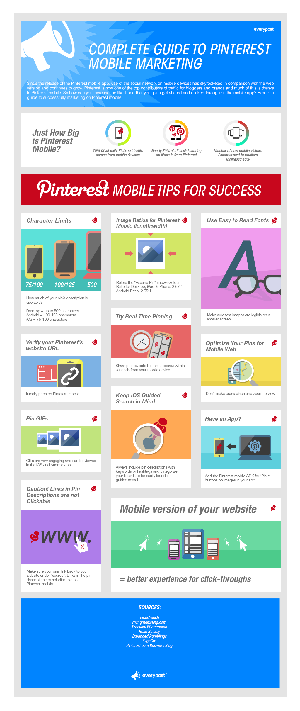 Complete Guide to Pinterest Mobile Marketing #infographic