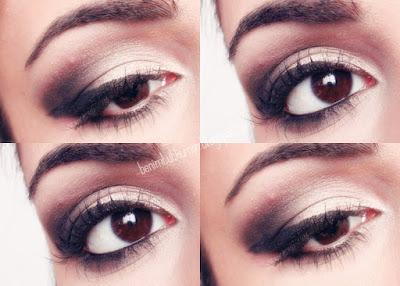 siyah beyaz göz makyajı