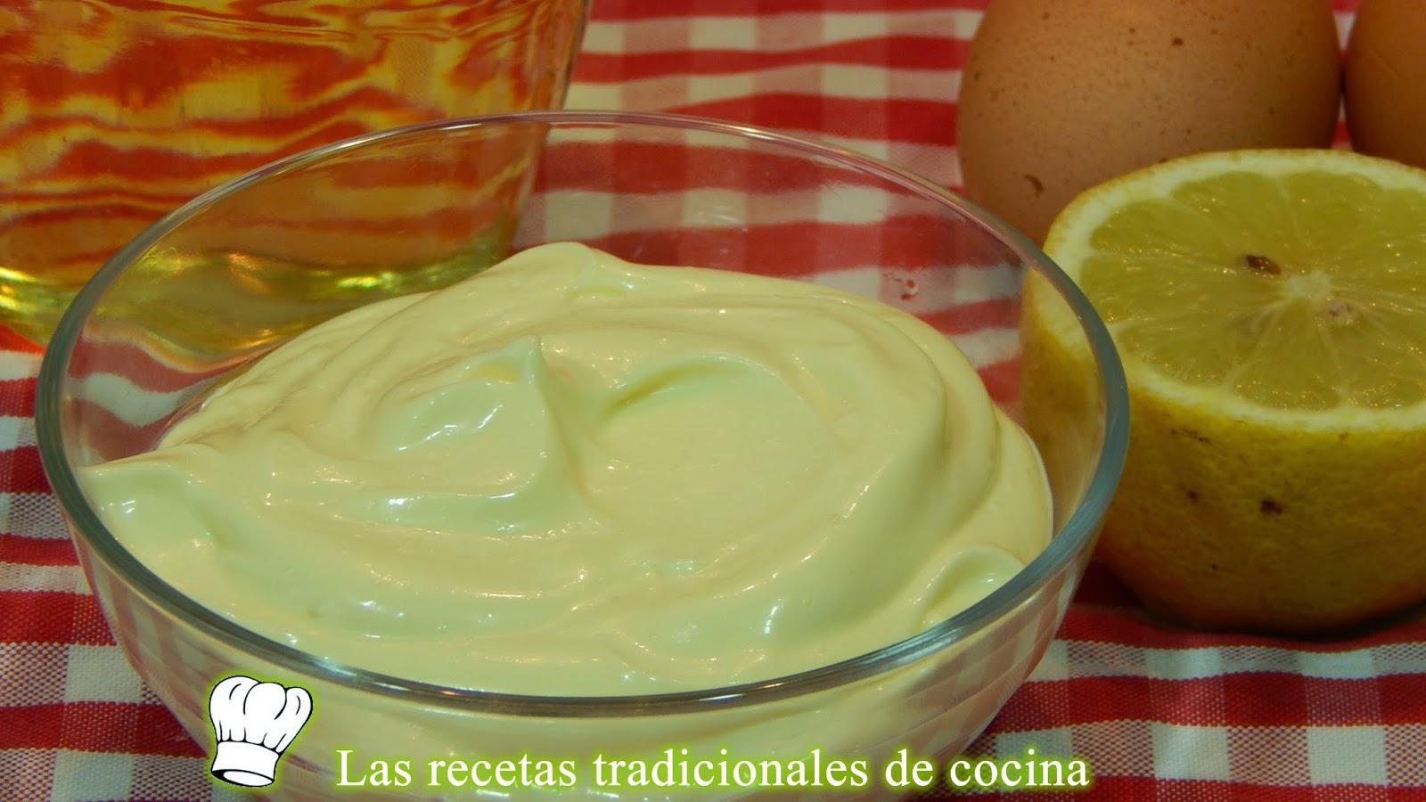 Salsa mayonesa casera