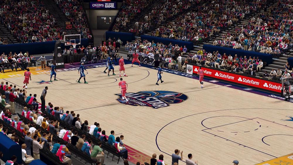 NBA2K14 ASG NOLA Court Arena