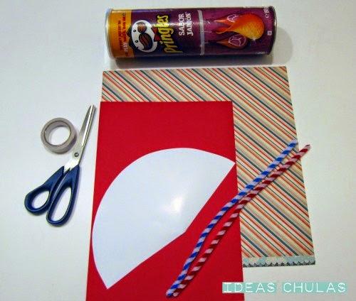 Materiales DIY Cohete con lata de pringles