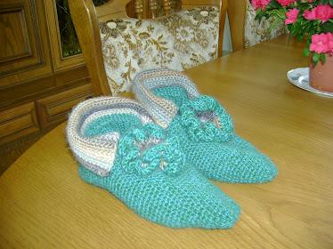 pantofi de casa crosetati