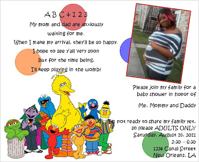 event design by kelly sesame street baby shower invitations