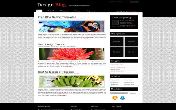 Free Jquery Business Black CSS Website Template