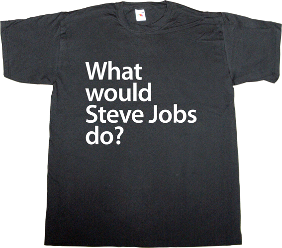 steve jobs apple tribute iwatch fun t-shirt ephemeral-t-shirts
