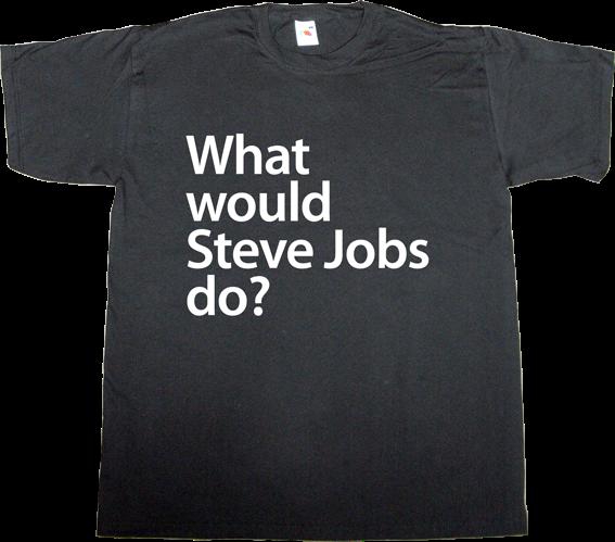 steve jobs apple tribute iwatch fun t-shirt ephemeral-t-shirts