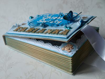 kartka książka_Chrzest Święty_handmade Baptism card - by Evik