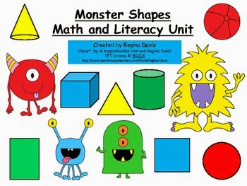 http://www.teacherspayteachers.com/Product/A-Monster-Shapes-Math-And-Literacy-Unit-270407