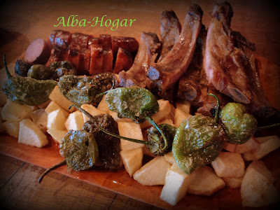parrillada de carne alba hogar