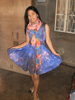 romwe galaxy dress