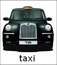 Taxi: A picture of a black taxi