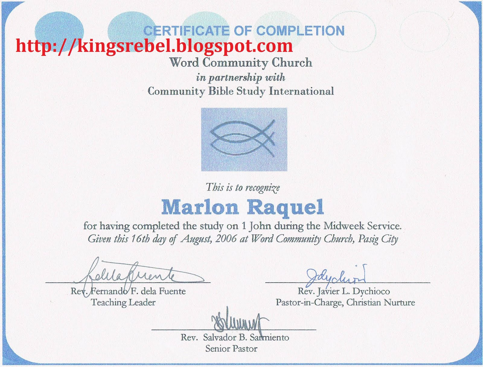 Tidbits and bytes example of certificate of completion for Bible study certificate templates