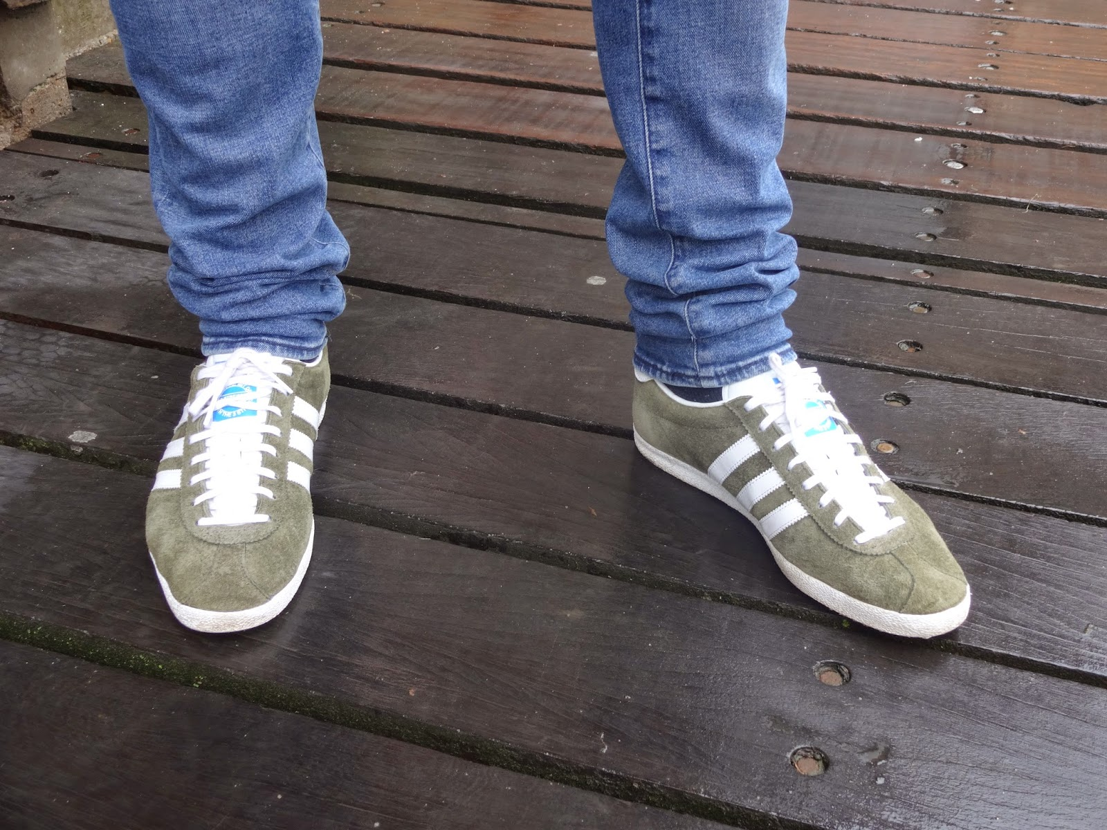 Adidas Gazelle Og Tent Green/White & On My Feet Today: Adidas Gazelle Og Tent Green/White